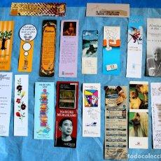 Coleccionismo Marcapáginas: LOTE 18 MARCAPAGINAS , PUNTOS DE LIBRO. Lote 99099395