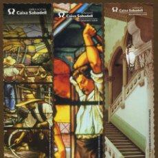 Coleccionismo Marcapáginas: 3 MARCAPÁGINAS MODERNISTAS – CAIXA SABADELL. Lote 106171407