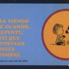 Coleccionismo Marcapáginas: A-5861- PUNTO DE LIBRO. MARCAPÁGINAS (PEGATINA). HORA DE COMER. S.M.. . Lote 107295783