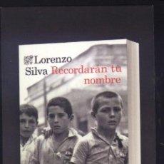 Coleccionismo Marcapáginas: A-5865- PUNTO DE LIBRO. MARCAPÁGINAS. RECORDARAN TU NOMBRE. LORENZO SILVA. DESTINO. . Lote 107430939