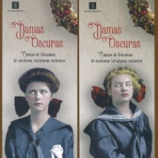 Coleccionismo Marcapáginas: 2 MARCAPÁGINAS EDITORIAL IMPEDIMENTA DAMAS OSCURAS. Lote 130412442