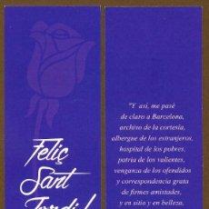 Coleccionismo Marcapáginas: SANT JORDI - SOCIETAT CIVIL CATALANA. Lote 111813867