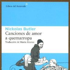 Coleccionismo Marcapáginas: MARCAPAGINAS POSTAL LIBROS DEL ASTEROIDE CANCIONES DE AMOR. Lote 132797518