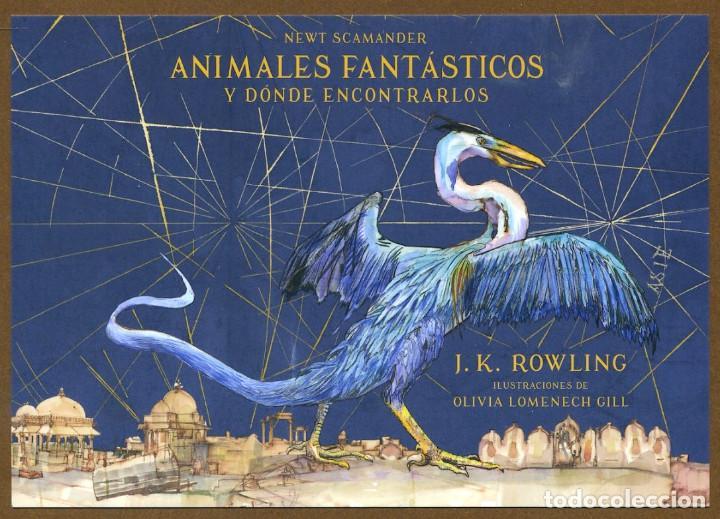 8 MARCAPÁGINAS POSTAL SALAMANDRA ANIMALES FANTASTICOS (Coleccionismo - Marcapáginas)