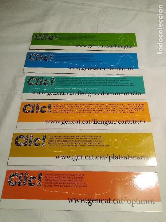 Coleccionismo Marcapáginas: COLECCIÓN DE 6 MARCAPAGINAS Colección CLIC. - Foto 2 - 108425199