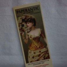 Coleccionismo Marcapáginas: MARCAPAGINAS - PAPERANTIC - MADRID 2007. Lote 147395905