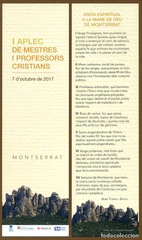 MARCAPÁGINAS – MONSERRAT 2017 (Coleccionismo - Marcapáginas)
