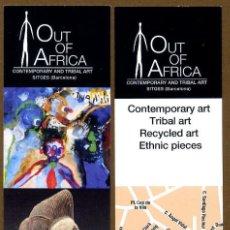 Coleccionismo Marcapáginas: MARCAPÁGINAS CONTEMPORARY ART - SITGES. Lote 108919899