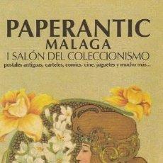 Coleccionismo Marcapáginas: MARCAPAGINAS PAPERANTIC. MALAGA. 2007. Lote 109473339