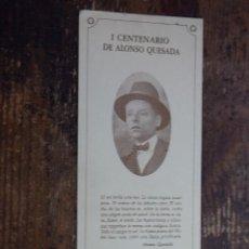 Coleccionismo Marcapáginas: MARCAPAGINAS I CENTENARIO DE ALONSO QUESADA, LA CAJA DE CANARIAS. Lote 110521363