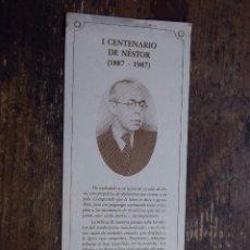 Coleccionismo Marcapáginas: MARCAPAGINAS I CENTENARIO DE NESTOR, LA CAJA DE CANARIAS. Lote 110521415