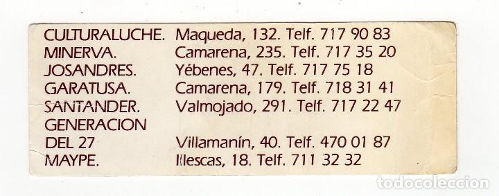 Coleccionismo Marcapáginas: MARCAPÁGINAS - DON QUIJOTE DE LA MANCHA - FERIA LIBRO - AYUNTAMIENTO MADRID - JUNTA DISTRITO LATINA - Foto 2 - 111610323