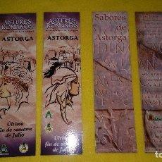 Coleccionismo Marcapáginas: ASTORGA, SABORES Y ASTURES Y ROMANOS. Lote 216872408