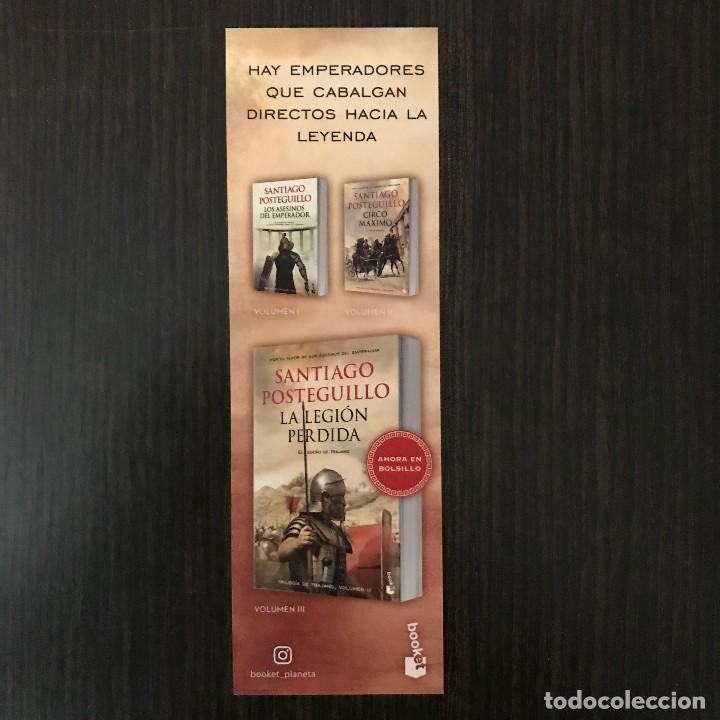 Coleccionismo Marcapáginas: Marcapáginas - La legión perdida, Santiago Posteguillo. - Foto 2 - 114126303