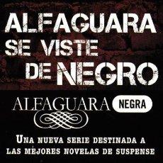 Coleccionismo Marcapáginas: MARCAPAGINAS: ALFAGUARA SE VISTE DE NEGRO - EDITORIAL ALFAGUARA. Lote 114437139