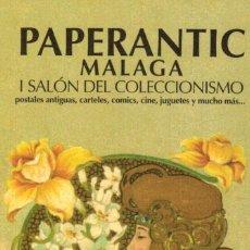 Coleccionismo Marcapáginas: BONITO MARCAPAGINAS PAPERANTIC MALAGA MARCAPAGINA PUNTO DE LIBRO A.101. Lote 115418643
