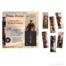 Coleccionismo Marcapáginas: FERRER DALMAU / 20 MARCAPÁGINAS TIRADA LIMITADA / SERIE 2 II / ÓLEOS MILITAR PINTOR BATALLAS. Lote 146395974