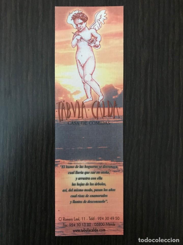 MARCAPÁGINAS - TABVLA CALDA, CASA DE COMIDAS (Coleccionismo - Marcapáginas)
