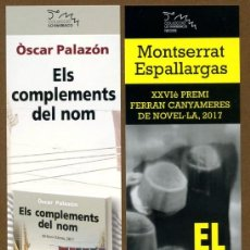 Coleccionismo Marcapáginas: 2 MARCAPÁGINAS PAGES EDITORS. Lote 118396903