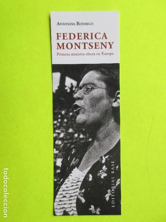 MARCAPÁGINAS EDITORIAL BASE FEDERICA MONTSENY (Coleccionismo - Marcapáginas)