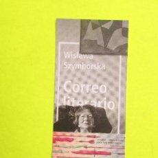 Coleccionismo Marcapáginas: MARCAPÁGINAS EDITORIAL NORDICA CORREO LITRARIO. Lote 244628760