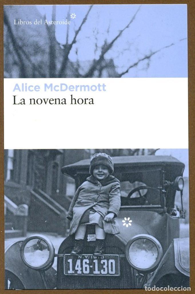 MARCAPAGINAS POSTAL LIBROS DEL ASTEROIDE LA NOVENA HORA (Coleccionismo - Marcapáginas)