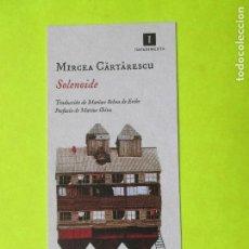 Coleccionismo Marcapáginas: MARCAPÁGINAS EDITORIAL IMPEDIMENTA SOLENOIDE. Lote 133905317