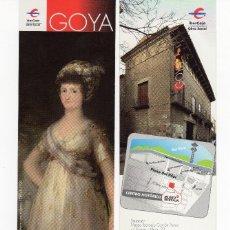 Coleccionismo Marcapáginas: MARCAPÁGINAS - MUSEO IBERCAJA - GOYA EN ZARAGOZA - MARIA LUISA DE PARMA. Lote 173972549