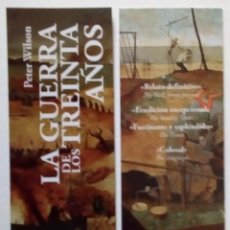 Coleccionismo Marcapáginas: MARCAPÁGINAS EDITORIAL DESPERTA FERRO - LA GUERRA DE LOS TREINTA AÑOS. Lote 206829050