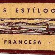 Coleccionismo Marcapáginas: MARCAPÁGINAS ANTIGUO LIBRERÍA FRANCESA - PLUMAS ESTILOGRÁFICAS - BARCELONA. Lote 126017935