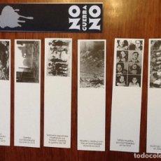 Coleccionismo Marcapáginas: NO A LA GUERRA. SERIE DE 6 PUNTOS DE LECTURA REALIZADOS PARA LA FERIA DEL LIBRO DE MÉXICO. Lote 131141752