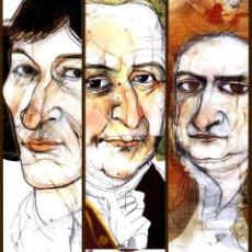Coleccionismo Marcapáginas: 3 MARCAPÁGINAS EXPOSICION LIBROS INMORTALES. Lote 131616457
