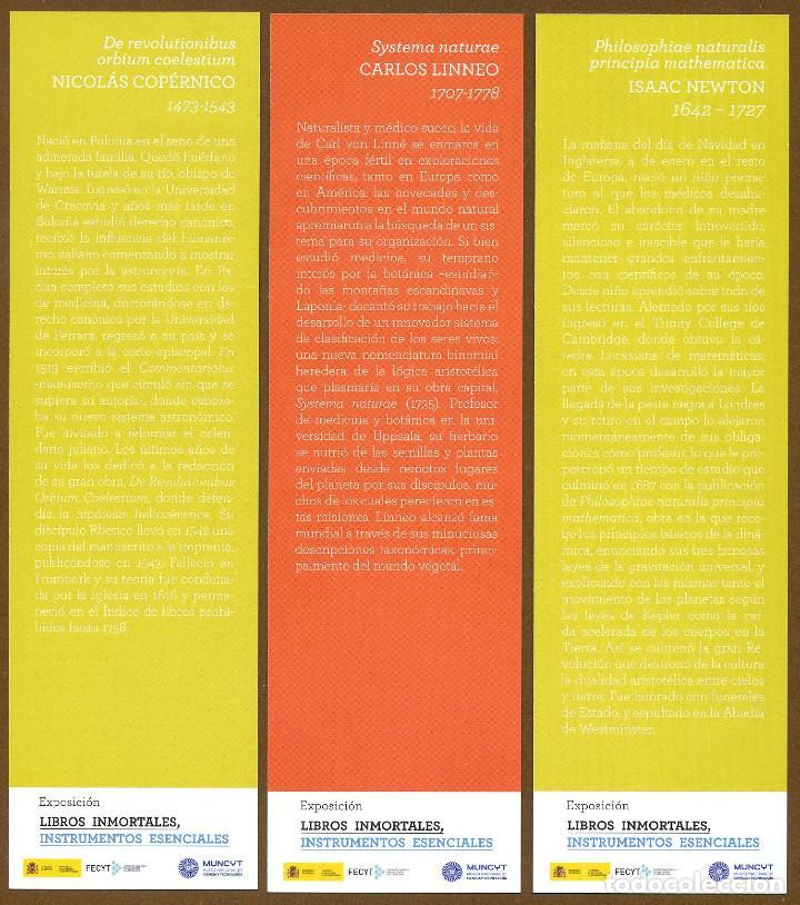 Coleccionismo Marcapáginas: 3 Marcapáginas EXPOSICION LIBROS INMORTALES - Foto 2 - 131616457