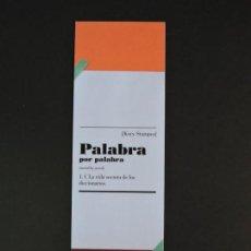 Coleccionismo Marcapáginas: MARCAPÁGINAS - CAPITÁN SWING - PALABRA POR PALABRA - VIDA SECRETA DE LOS DICCIONARIOS. Lote 207133280