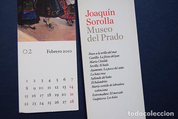 Coleccionismo Marcapáginas: Colección 11 marcapáginas-calendario 2010 Joaquín Sorolla – Museo del Prado, Madrid, 2010 - Foto 2 - 136319130