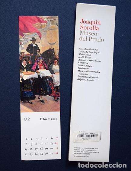 Coleccionismo Marcapáginas: Colección 11 marcapáginas-calendario 2010 Joaquín Sorolla – Museo del Prado, Madrid, 2010 - Foto 4 - 136319130
