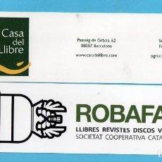 Coleccionismo Marcapáginas: DOS MARCAPÁGINAS DE EDICIONES DE BROMERA. Lote 138000838