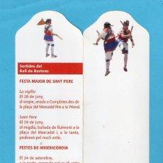 Coleccionismo Marcapáginas: MARCAPÁGINAS DE EDICIONES DE SEGUICI FESTIU DE REUS EL BALL DE BASTONS Nº 18. Lote 140116278