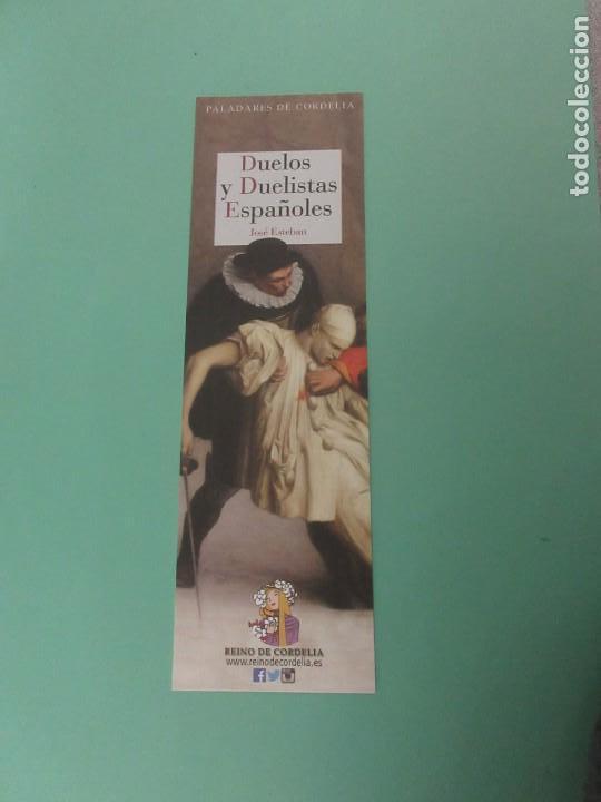 MARCAPGINAS EDITORIAL REINO DE CORNELIA DUELOS Y DUELISTAS ESPAÑOLES (Coleccionismo - Marcapáginas)