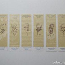 Coleccionismo Marcapáginas: COLECCIÓN COMPLETA , LETRAS DE SALAMANCA 2002, 12 MARCAPÁGINAS REVERSIBLES, INCLUYE ESTUCHE. Lote 140776866