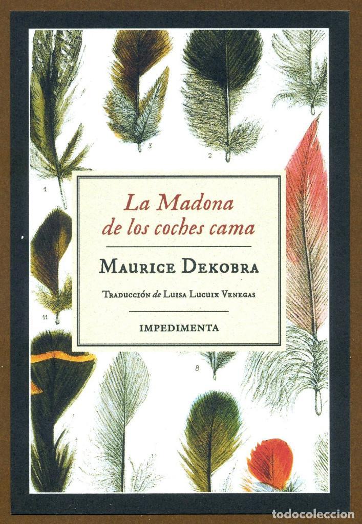 MARCAPÁGINAS EDITORIAL IMPEDIMENTA LA MADONA DE LOS COCHES CAMA (Coleccionismo - Marcapáginas)