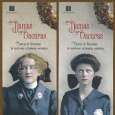 Coleccionismo Marcapáginas: 4 MARCAPÁGINAS EDITORIAL IMPEDIMENTA DAMAS OSCURAS. Lote 142837774