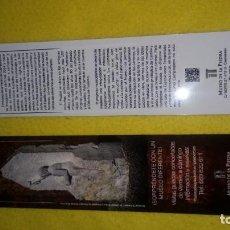 Coleccionismo Marcapáginas: MUSEO DE LA PIEDRA, CAMPASPERO.. Lote 143760022