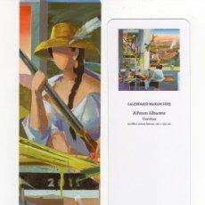 Coleccionismo Marcapáginas: MARCAPÁGINAS - FUNDACIÓN MAXAM - ALFONSO ALBACETE - VANITAS. Lote 147337813