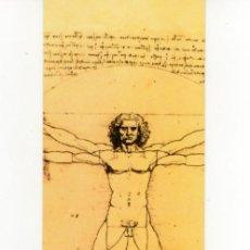 Coleccionismo Marcapáginas: MARCAPÁGINAS - LEONARDO DA VINCI - 500 YEARS - HOMBRE DE VITRUVIO - BIBLIOTECA NACIONAL MADRID. Lote 145826874