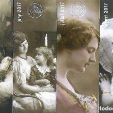 Coleccionismo Marcapáginas: SERIE DE 12 MARCAPAGINAS , UNO POR MES DEL 2017 TEMA MUJERES ASOCIACIÓN MOLLET DEL VALLE7. Lote 195051410