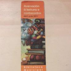 Coleccionismo Marcapáginas: LUGO MARCAPAGINAS CONCELLO LUGO 2011. Lote 147581654