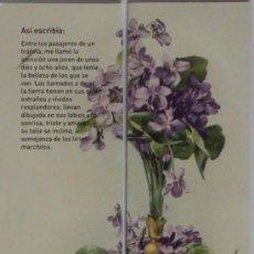 Coleccionismo Marcapáginas: MARCAPÁGINAS DIPTICO.BIBLIOTECA VIRTUAL-. Lote 147590990
