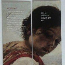 Coleccionismo Marcapáginas: MARCAPÁGINAS DIPTICO.BIBLIOTECA VIRTUAL-. Lote 147591014