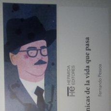 Coleccionismo Marcapáginas: MARCAPÁGINAS EDITORIAL HERMIDA.DIARIO DE LA VIDA QUE PASA.FERNANDO PESSOA.. Lote 194923135